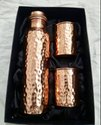 Hammered Copper Bottle Set