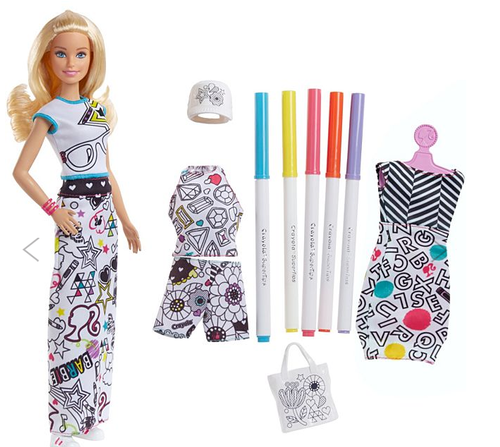 Barbie Crayola Color In Fashion Doll फ शन व ल ग ड य फ शन ड ल Parul Fancy Store Hyderabad Id 20593630555