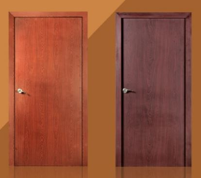 Genial Plain Wood Finish Pravesh Doors