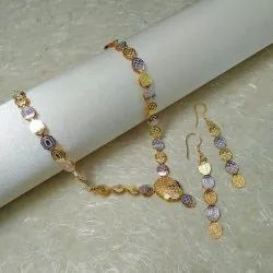 Brass Party,Anniversary Artificial Jewellery Two-Tone Necklace Set