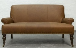 Vintage Genuine Leather Two Seater Sofa, Leather Furniture