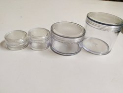 San Jar/ Cosmetics Jar With Transparent Cap