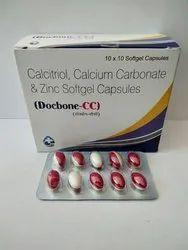 Docbone-CC Allopathic Calcitriol Calcium Carbonate & Zinc Softgel Capsules