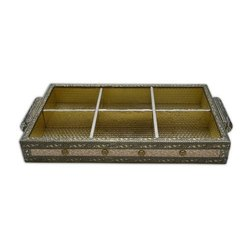 GUNATIT Decorative Wooden Serving Tray, for Home, Shape: Rectangle