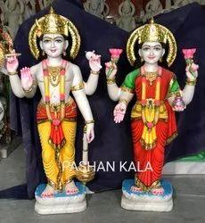 Marble Vishnu Laxmi Sculpture