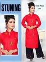 Ladies Red Rayon Kurti