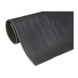 Plain Black Electrical Safety Insulating Mat