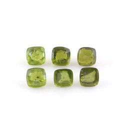 Peridot Faceted Buttons For Dress