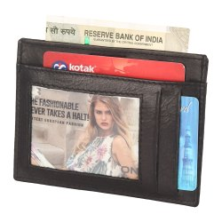 Leather Card Holder Rfid protected