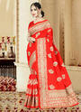 Art Silk Wedding Wear Heavy Work Saree
