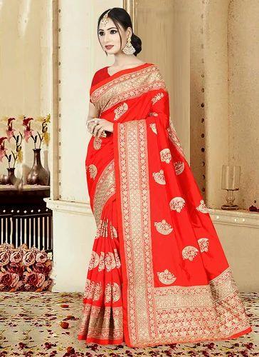 36c1443603eea Art Silk Wedding Wear Embroidered Heavy Work Saree