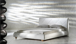 White Leather King Bed