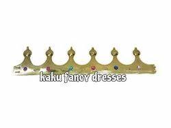 Kaku Fancy Dresses Plastic King Crown