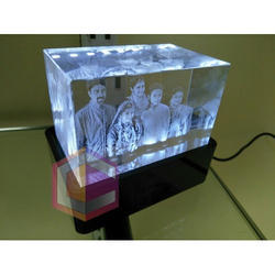 3D Crystal Engraved Gift