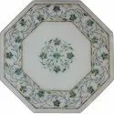 Octagonal Shape Marble Inlay Table Top Stone