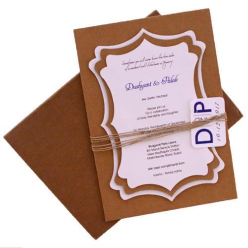 Khaki Craft Paper Printed Invitation Cards Id 19818501530