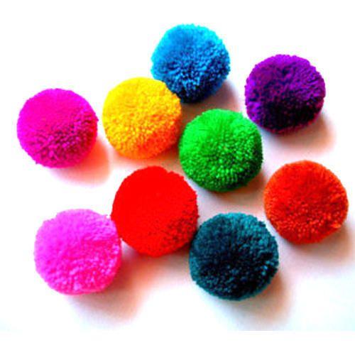 4cm size pom pom balls, quantity per pack: 25 pieces, rs 1 /piece