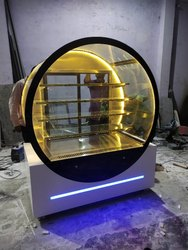 Round Glass Display Counter For Cake And Pastry