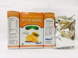 Stay-Kool Orange Instant Energy Drink, Packaging Size: 105 Gm, Packaging Type: Pouches