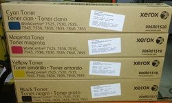 Xerox Original 7525 Toner Cartridge Full Set