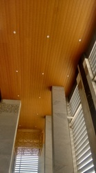 Linear Ceiling - Wood Finish