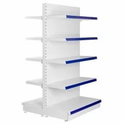White Ivory Standard Metal Supermarkets Display Racks, Size: 6'*3' , For Supermarkets, Grocery Stores