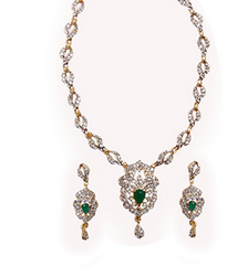 Amazing Green Necklace Set