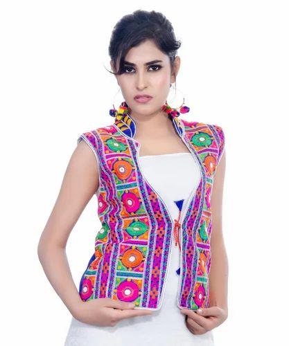 646e00977b Banjara India Dupion Silk Bharchak-Kutchi Embroidered Designer Jacket, Adult