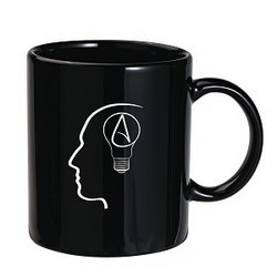 Logo Printed Black Coffee Mug