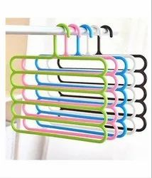 Multicolor Plastic 5-Layer Hanger for Cloth Hanging