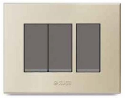 Caprina Series Champagne Gold Polycarbonate Switch Plate
