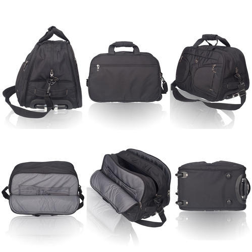 aa2991c47d Cosmus Polyester Black Rolling Duffle Bag