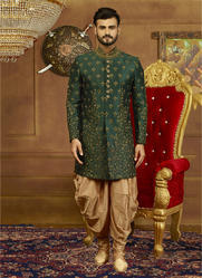 Kesari Exports Indo Western Dhoti Style Grooms Sherwani