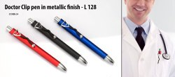纤维塑料医生夹笔,型号:L128