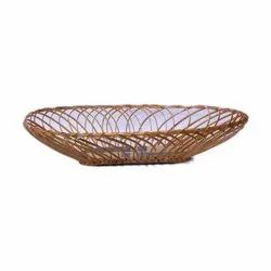Brown Bamboo Tray, Thickness: 1-5mm, Shape: Oval
