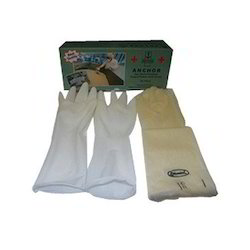 White Veterinary Gloves, Size: M/L/XL
