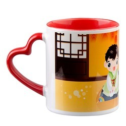 Sublimation Mug (Mug Heart Handle)