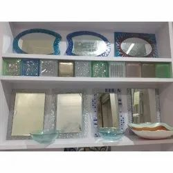 Transparent Glass Wall Mounted Decorative Mirror