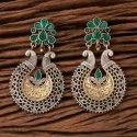 Indo Western Chand Earring With 2 Tone Plating 101237