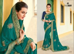 Indian Women Green Saree - Platinum 9, Designs-12