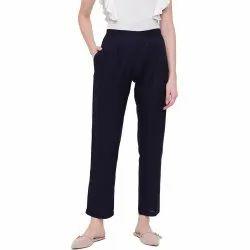 Pant For Kurta Navy Blue Rayon