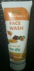 Herbal Papaya Keshar Honey Face Wash, Packaging Size: 60 mL