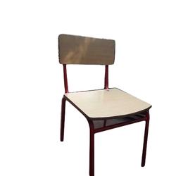 Iron and Wooden Chair for School