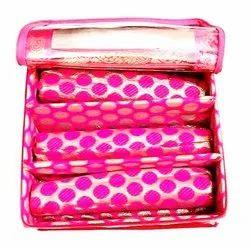 Fabric Zipper Designer Bangle Box, Shape: Rectangular