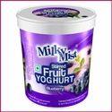 Milky Mist Blueberry Yogurt, Packaging Type: Plastic Cup