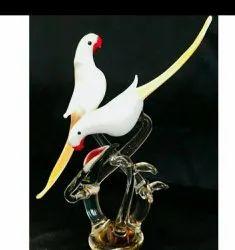 Peacock Home Decor Glass Birds Statue