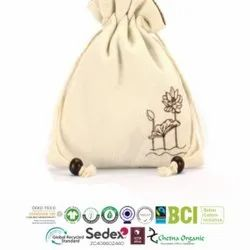 Organic Recycle Cotton Pouch Bags