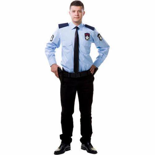 7329a5525 Blue Cotton Security Guard Uniforms, Size: Medium And XL, Rs 650 ...
