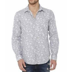 Collar Neck Mens Printed Shirt