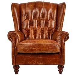 Vintage Leather Chesterfield Club Arm Chair